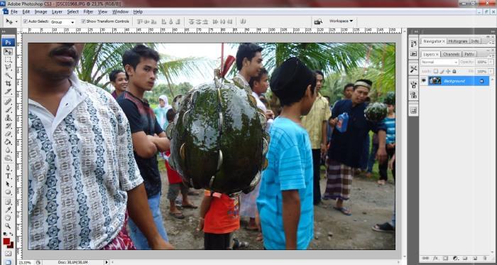 Foto Awal Teknik Blur